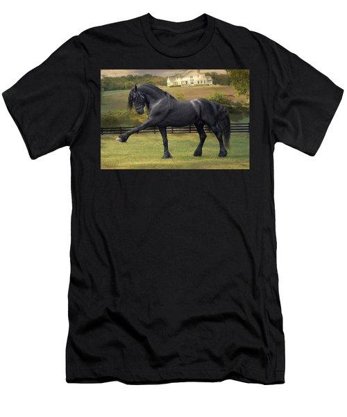 Friesian Stallion Tije Spanish Walk Men's T-Shirt (Athletic Fit)