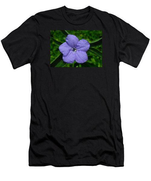 Wild Fringeleaf Ruellia Men's T-Shirt (Slim Fit) by William Tanneberger