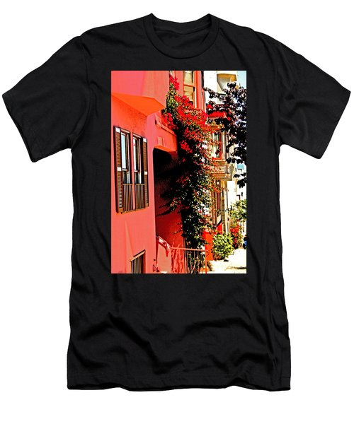 Frisco Street Flowers Men's T-Shirt (Athletic Fit)