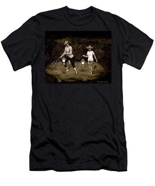 Frog Hunters Black And White Photograph Version Men's T-Shirt (Athletic Fit)