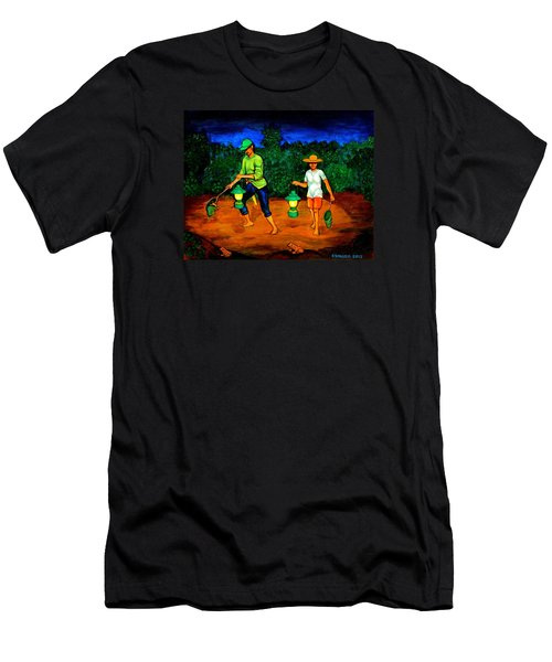 Frog Hunters Men's T-Shirt (Slim Fit) by Cyril Maza