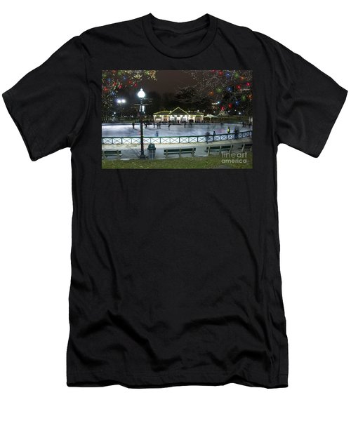 Frog Pond Ice Skating Rink In Boston Commons Men's T-Shirt (Athletic Fit)