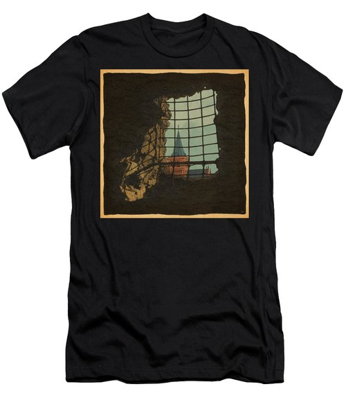 Men's T-Shirt (Slim Fit) featuring the drawing From A Castle by Meg Shearer