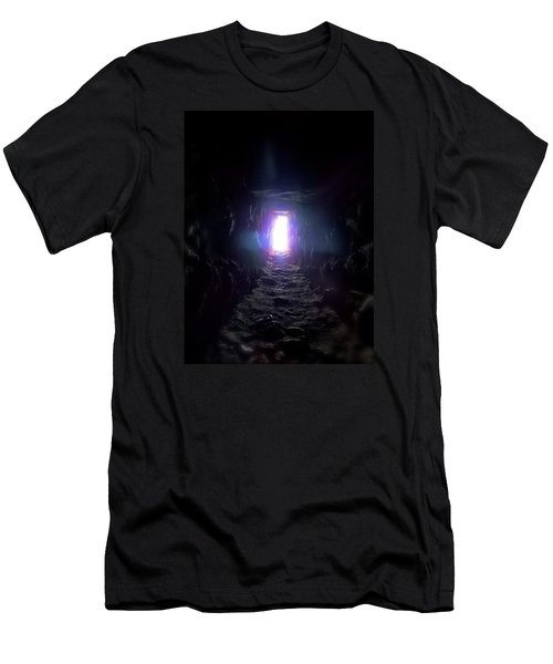 Men's T-Shirt (Slim Fit) featuring the photograph From Dark To Bright by Marc Philippe Joly