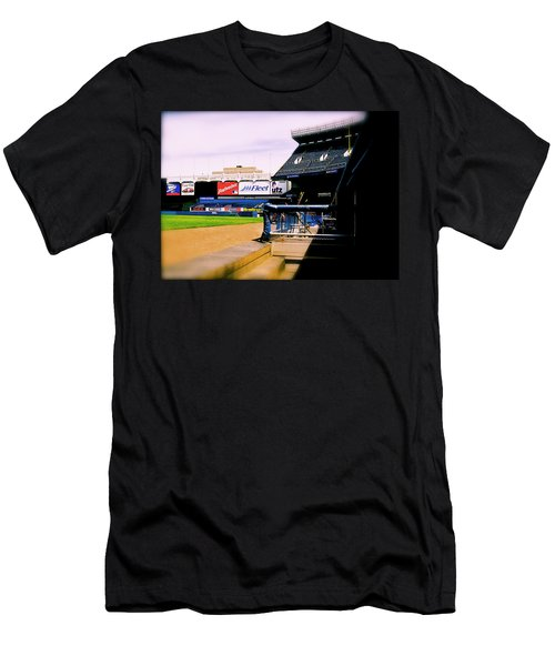 From The Dugout  The Yankee Stadium Men's T-Shirt (Slim Fit) by Iconic Images Art Gallery David Pucciarelli