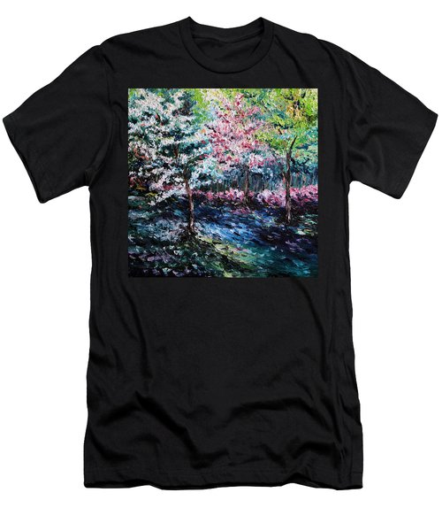 Men's T-Shirt (Slim Fit) featuring the painting From The Earth by Meaghan Troup