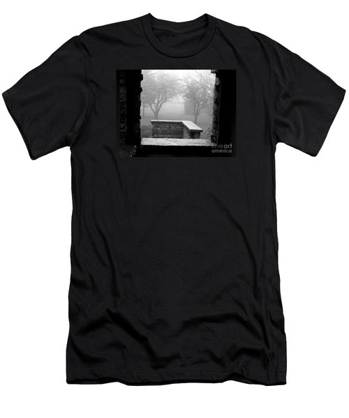 Men's T-Shirt (Slim Fit) featuring the photograph From The Window by Susan  Dimitrakopoulos