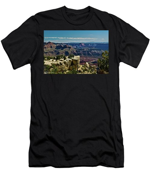Men's T-Shirt (Slim Fit) featuring the photograph From Yaki Point 2 Grand Canyon by Bob and Nadine Johnston