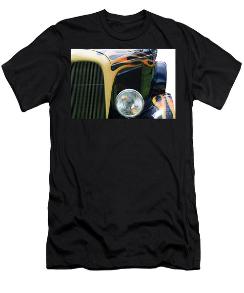 Men's T-Shirt (Slim Fit) featuring the photograph Front Of Hot Rod Car by Gunter Nezhoda