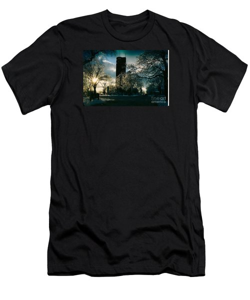 Frosty Sunrise At Tower Park Men's T-Shirt (Athletic Fit)