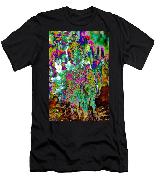 Men's T-Shirt (Athletic Fit) featuring the digital art Frozen Juniper by Mae Wertz