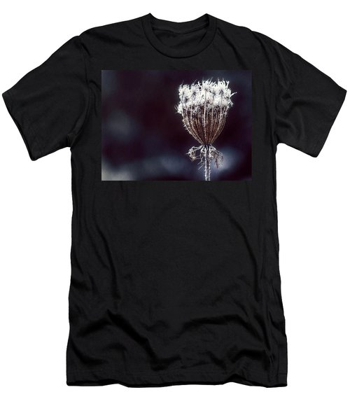 Men's T-Shirt (Slim Fit) featuring the photograph Frozen Wisps by Melanie Lankford Photography