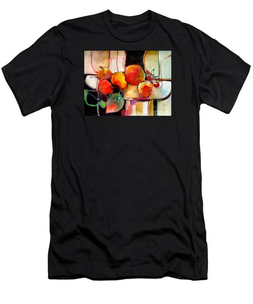 Men's T-Shirt (Athletic Fit) featuring the painting Fruit On A Dish by Michelle Abrams