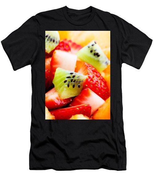 Fruit Salad Macro Men's T-Shirt (Athletic Fit)