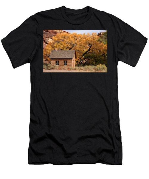 Men's T-Shirt (Athletic Fit) featuring the photograph Fruita Schoolhouse, Capital Reef, Utah by Aidan Moran