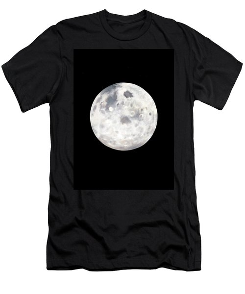 Full Moon In Black Night Men's T-Shirt (Slim Fit) by Janice Dunbar