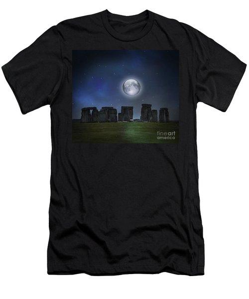Full Moon Over Stonehenge Men's T-Shirt (Athletic Fit)