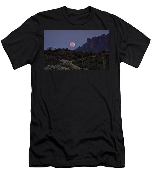 Full Moon Rising  Men's T-Shirt (Slim Fit) by Saija  Lehtonen