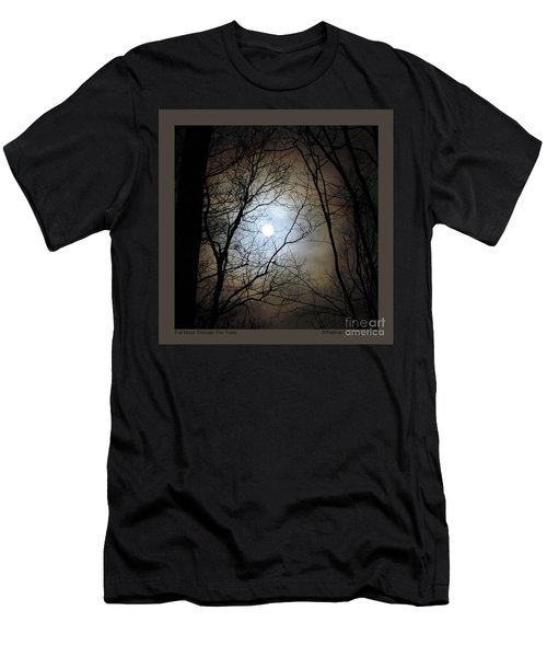 Full Moon Through The Trees Men's T-Shirt (Slim Fit) by Patricia Overmoyer