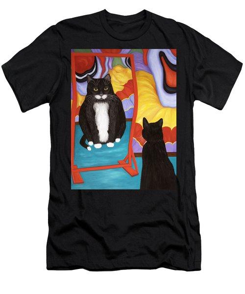 Fun House Fat Cat Men's T-Shirt (Athletic Fit)