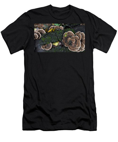 Fungi Contrast Men's T-Shirt (Athletic Fit)
