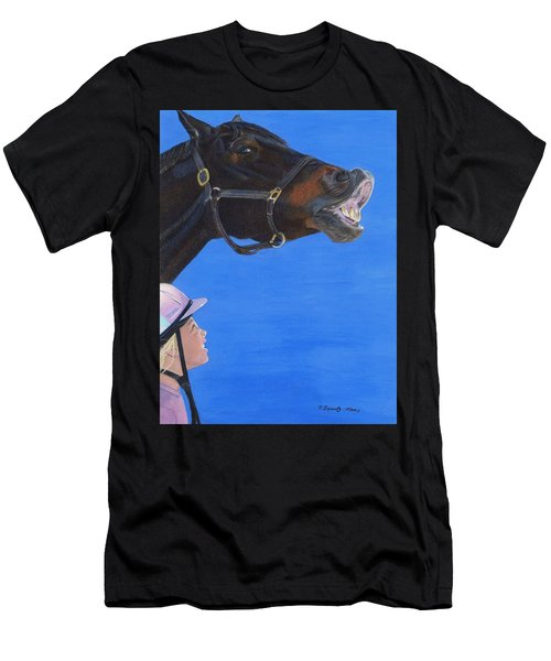 Funny Face - Horse And Child Men's T-Shirt (Athletic Fit)