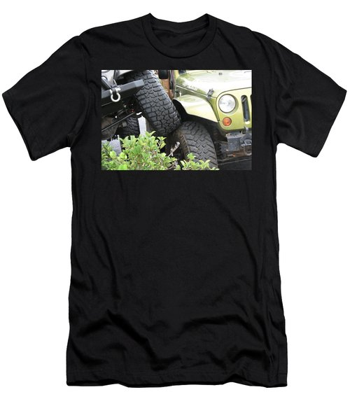 Funny Place To Park Men's T-Shirt (Slim Fit)