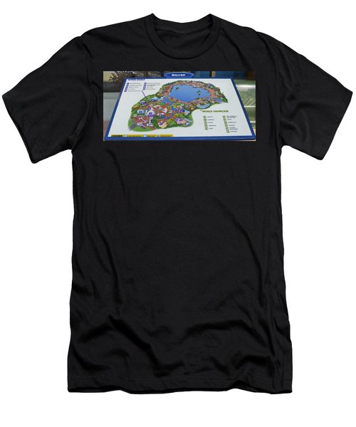 Future World Map Walt Disney World Digital Art Men's T-Shirt (Athletic Fit)
