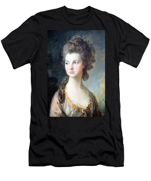 Gainsborough's The Hon. Mrs. Thomas Graham Up Close Men's T-Shirt (Slim Fit)