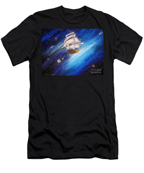 Galactic Traveler Men's T-Shirt (Athletic Fit)
