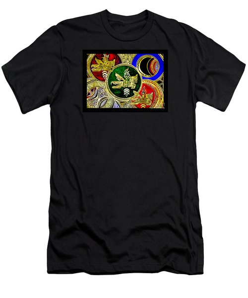 Galactic Windhorses Men's T-Shirt (Slim Fit) by Susanne Still