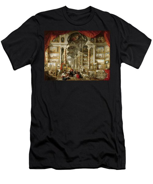 Gallery With Views Of Modern Rome Men's T-Shirt (Athletic Fit)