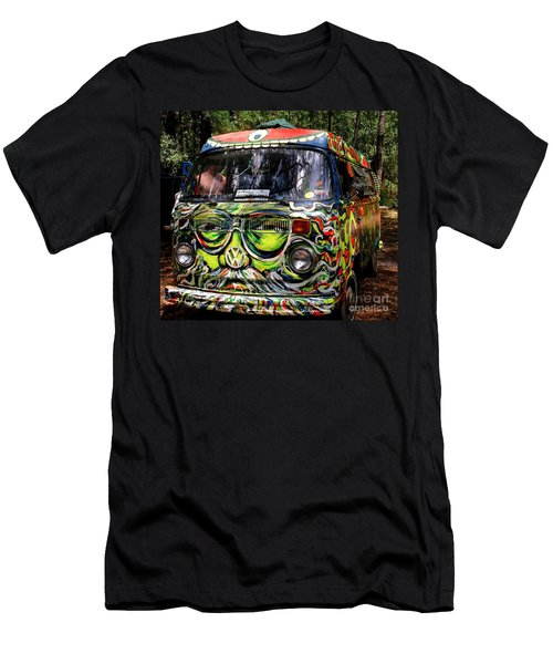 Garcia Vw Bus Men's T-Shirt (Slim Fit) by Angela Murray