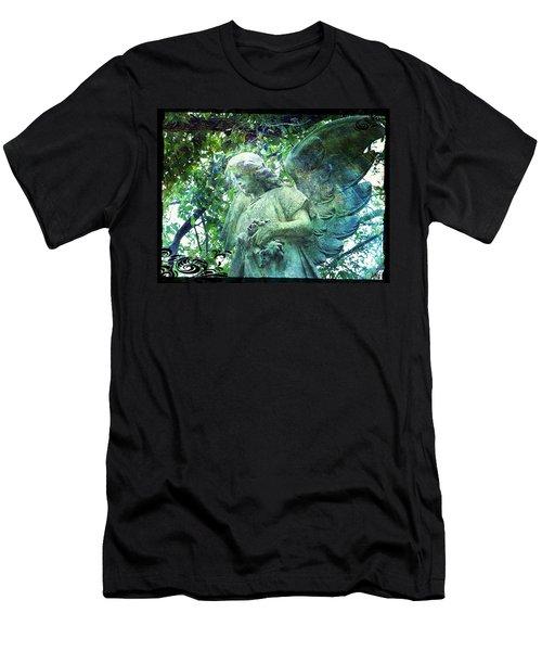 Garden Angel - Divine Messenger Men's T-Shirt (Slim Fit) by Absinthe Art By Michelle LeAnn Scott