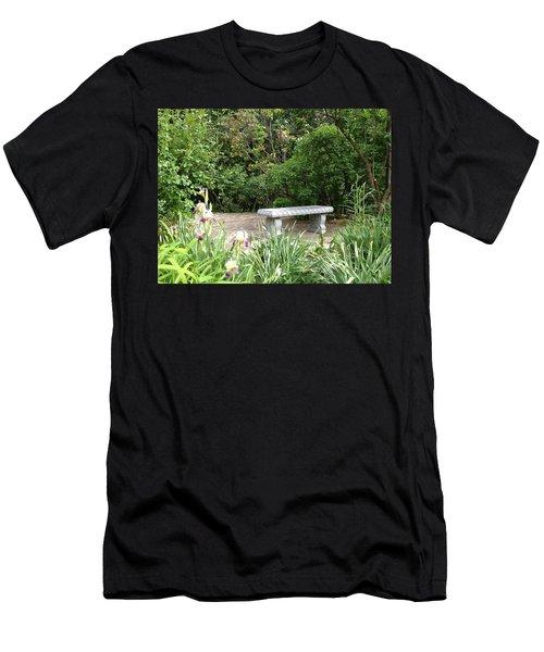 Garden Bench Men's T-Shirt (Slim Fit) by Pema Hou