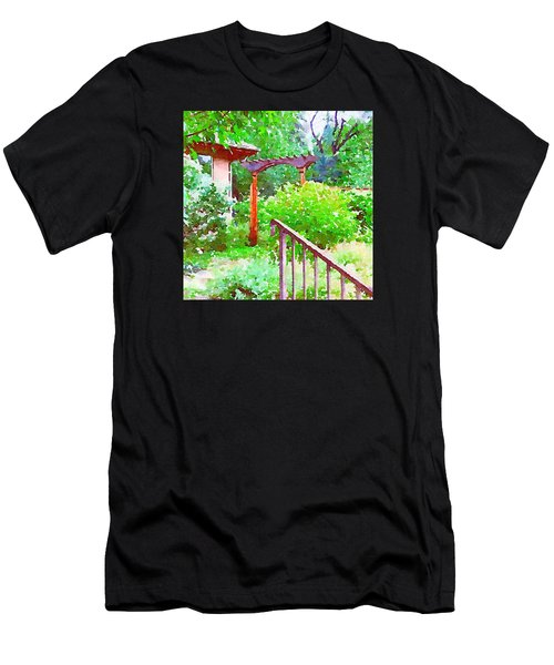 Garden Path With Arbor Men's T-Shirt (Athletic Fit)
