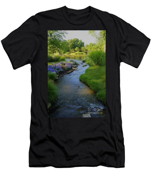 Garden Stream Hdr #9795 Men's T-Shirt (Athletic Fit)