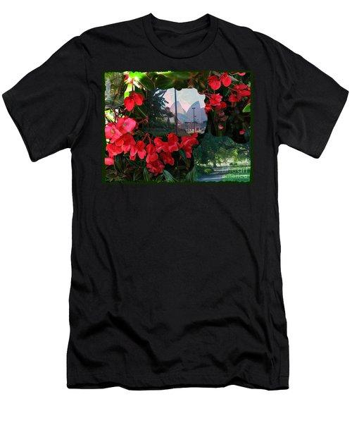 Garden Whispers Men's T-Shirt (Athletic Fit)