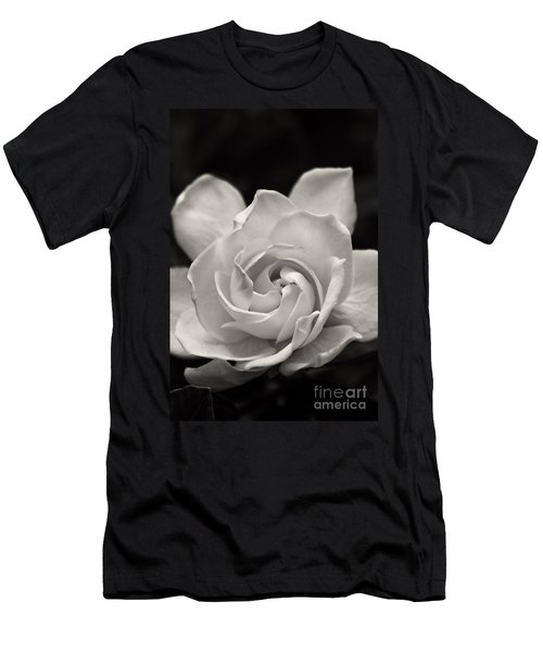 Gardenia Bloom In Sepia Men's T-Shirt (Athletic Fit)