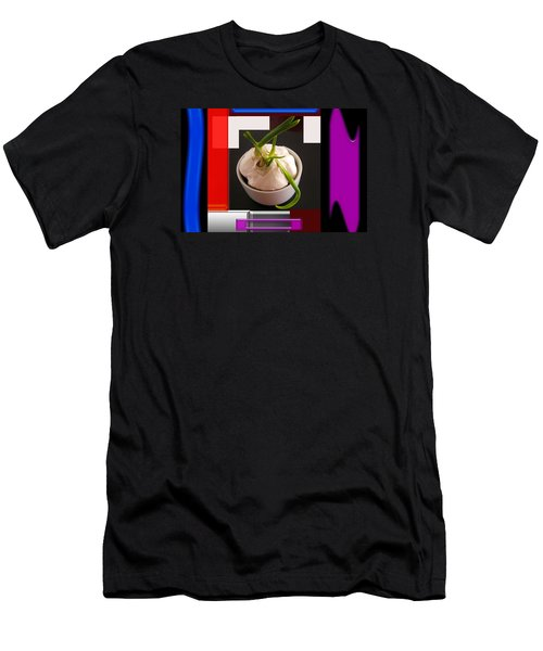 Men's T-Shirt (Slim Fit) featuring the photograph Garlic Surrounded by Tina M Wenger