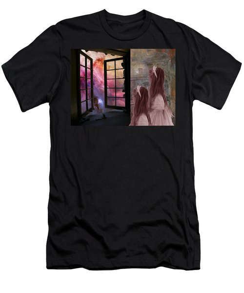 Gates Of Heaven-regarder La Fin Du Monde Men's T-Shirt (Athletic Fit)