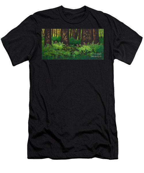 Gathering Among The Ferns Men's T-Shirt (Athletic Fit)