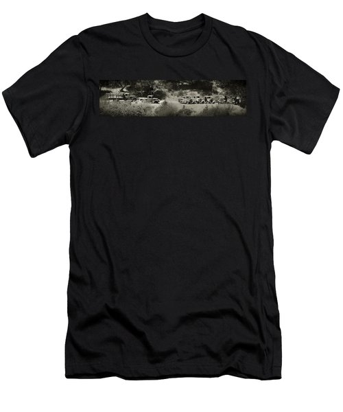 Gathering Black And White Men's T-Shirt (Athletic Fit)