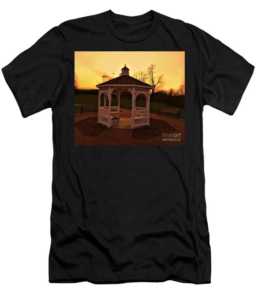 Men's T-Shirt (Slim Fit) featuring the photograph Gazebo In Sunset by Becky Lupe