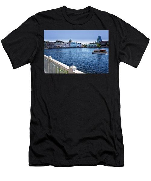 Gazebo View Of The Boardwalk Walt Disney World Men's T-Shirt (Athletic Fit)