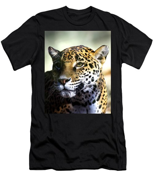 Gazing Jaguar Men's T-Shirt (Athletic Fit)