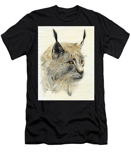 Gazing Lynx Men's T-Shirt (Athletic Fit)
