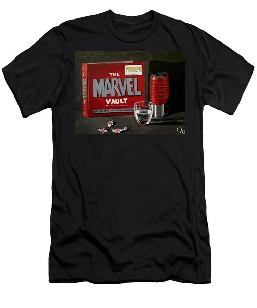 Marvel Comic's Still Life Acrylic Painting Art Men's T-Shirt (Athletic Fit)