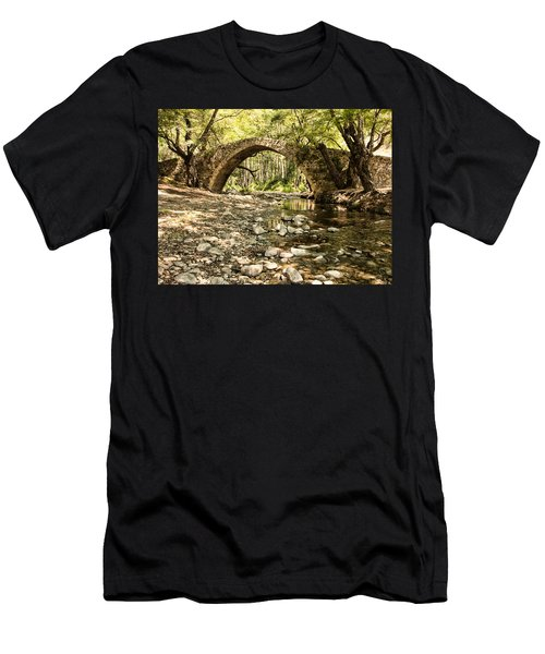 Gelefos Old Venetian Bridge Men's T-Shirt (Slim Fit) by Mike Santis