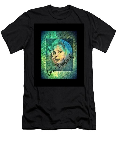 Gena Rowlands Men's T-Shirt (Slim Fit) by Absinthe Art By Michelle LeAnn Scott